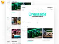 Greenside hookah website + 3 invites