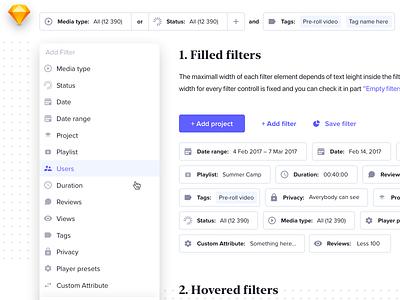 Menu Filterring interface design flatdesign buttons hovers uiux dashboard ui dashboard light filter panel segments dropdown popup search bar navigation menu navigation tags search filterrings filters