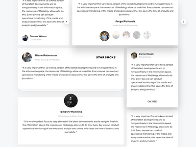 Testimonials template (Freebie) dark dashboard website ux web video tiles minimal interface design material flat ui light transitions sourse principle figma freebies freebie