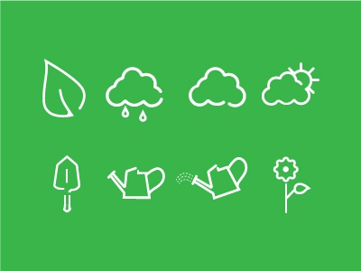 Icons gardening