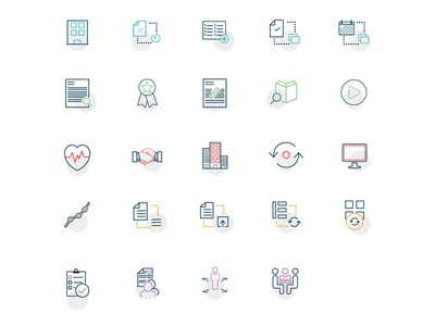 Corporate Icons icons ui web design web digital illustration flat
