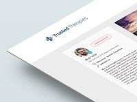 Profile Page UI