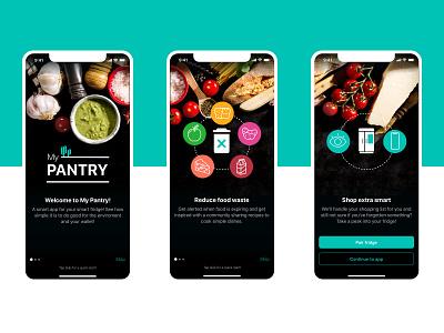 My Pantry - Concept App onboarding mobile foodwaste food ios ux design ui design app uiux ui