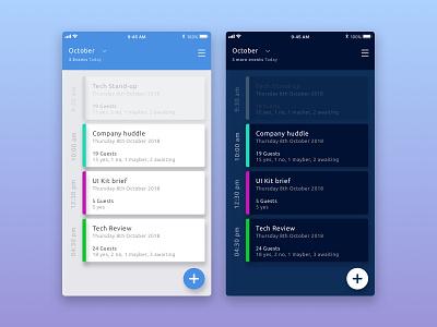 Daily UI #071 - Schedule 071 app portfolio user ui ux dailyui ios mobile schedule