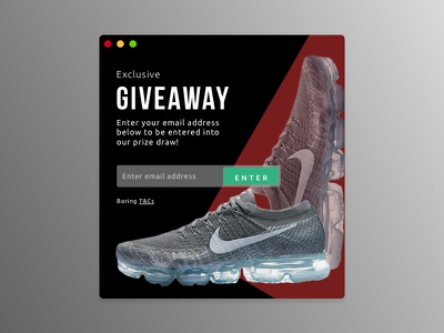 Daily UI #097 - Giveaway icon web dailyui ux ui 097 nike giveaway