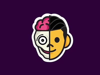 THD x Sticker Mule vector illustration skull avatar sticker mulesticker icon logo halloween