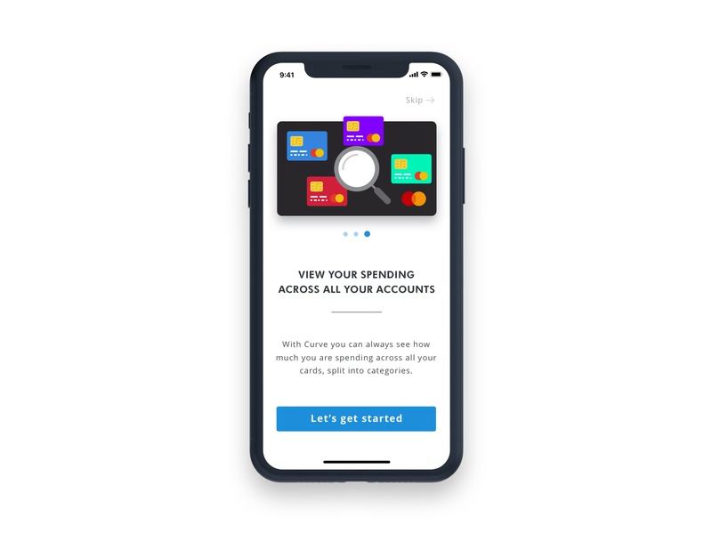 Curve Onboarding 3/3 illustration design logo iphone icon app ios mobile user portfolio ux ui