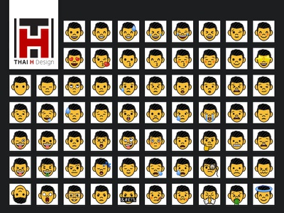 *Freebie* Customisable Emoji set design emoji set emoji vector logo illustration portfolio dailyui ui
