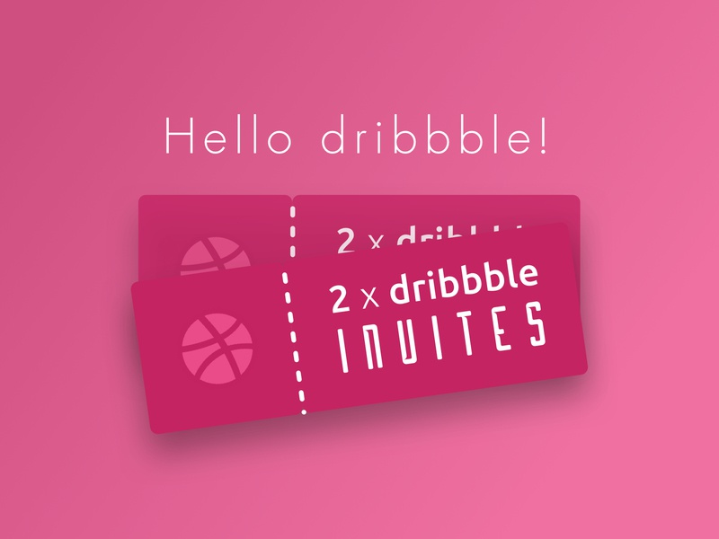 2x dribbble invites!! draft dribbbleinvites dribbbleinvite dribbble icon illustration mobile ui
