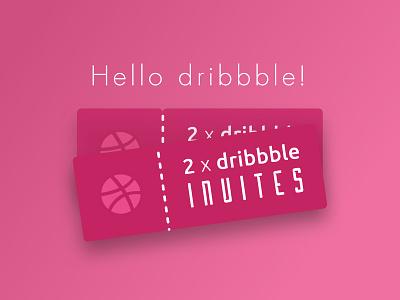 2x dribbble invites!! draft dribbbleinvites dribbbleinvite dribbble icon illustration mobile ui
