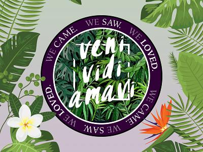 V x V x A - Rebound!! sticker nature quote tropical design illustration stickermule