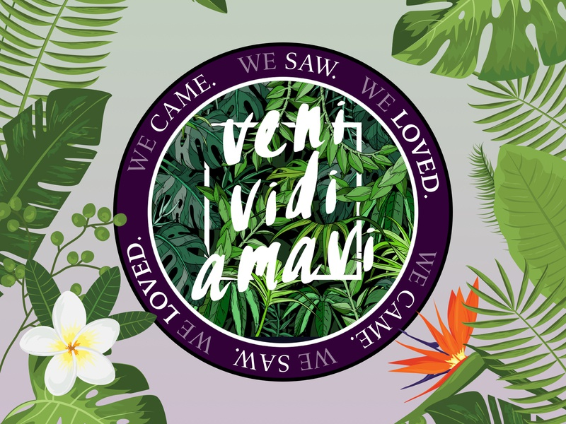 V x V x A - Rebound!! sticker nature quote tropical design illustration stickermule
