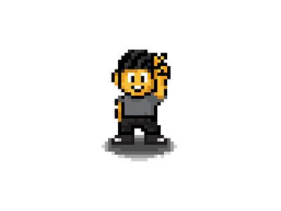 Deuces ✌️ retro mario pixelart pixel portfolio design branding vector illustration ui