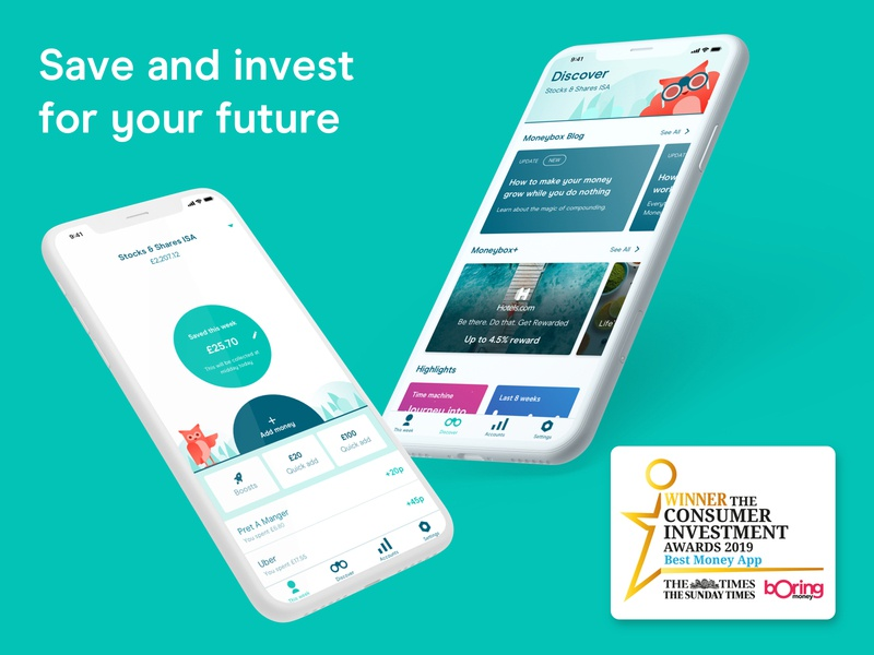 Moneybox - Helping you save and invest for your future moneybox fintech app