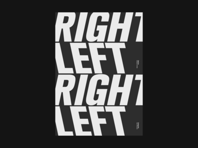 Right/ Left Poster