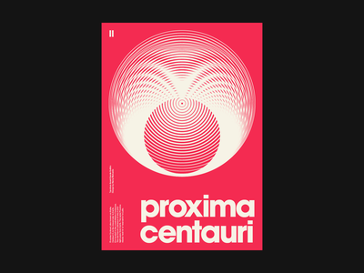 Proxima Centauri Poster poster design space red clean artwork minimal typography type graphic design graphic flat design print poster