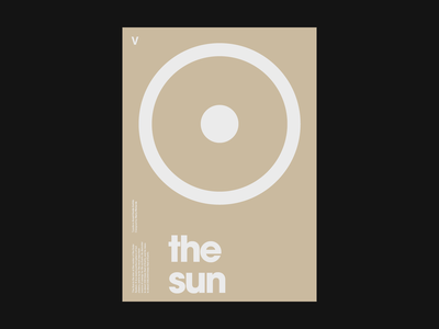The Sun Poster poster design white clean artwork minimal typography type graphic design graphic flat design print poster