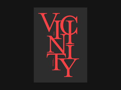 Vicinity Poster poster design red black clean artwork minimal typography type graphic design graphic flat design print poster