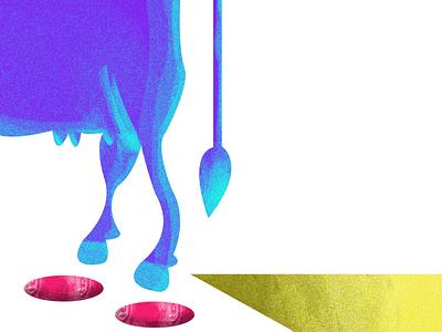 cow website ui graphic design illustrator graphic branding web minimal vector design illustration