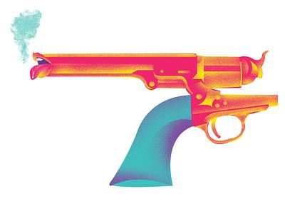 gun website ui graphic design illustrator graphic branding web minimal vector design illustration