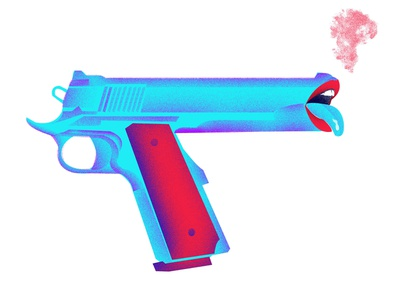 gun graphic design illustrator graphic branding web minimal vector design illustration