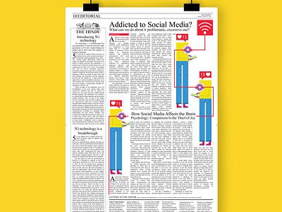 news paper editorial ui website graphic design illustrator graphic branding minimal vector design illustration