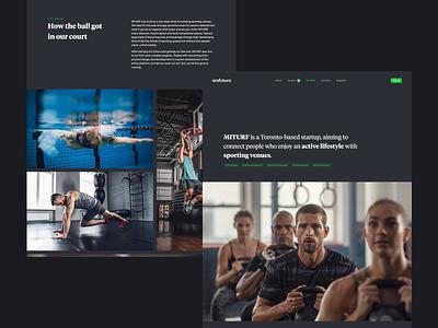 Sport App Case Study dark theme clean clean ui case study app sport