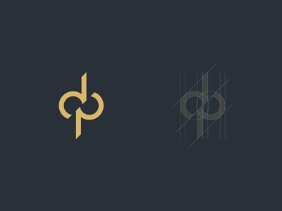 D&P Ambigram logo logo icon symbol monogram dribbble vector typography simple minimal illustration brand design infinity art grid pd dp ambigram