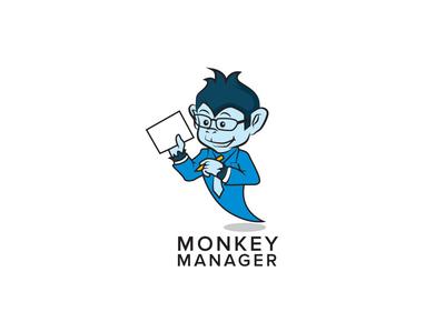 Monkey Manager LOGO monkey king branding illustration logodesign corporate logo service manager mascot monkey