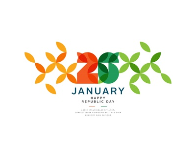 26 January floral leaf freedom creative india templet republic day 26 january shutterstock design vector illustration