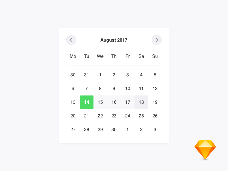 Calendar by Andreas Karoutzos on Dribbble