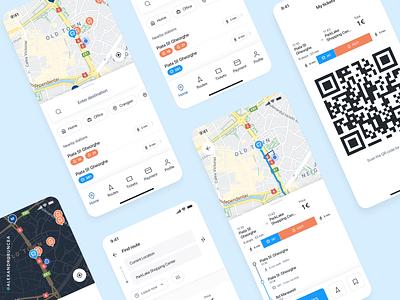 Public Transport design ux ui mobile clean popular shot mass transit transit map travel map google app transit popular figma