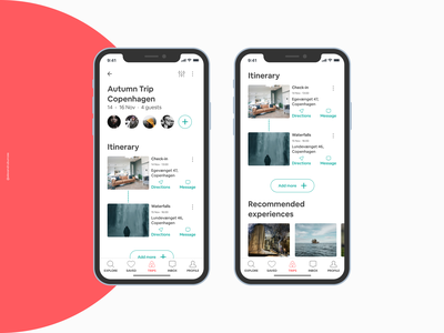 Group Vacation Planning in Airbnb - Product Challenge ux uiux ui case study case challenge product design feature airbnb design figma