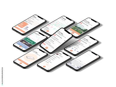 Journaling Companion clean ui ux minimal application relax calm journal mobile app design figma