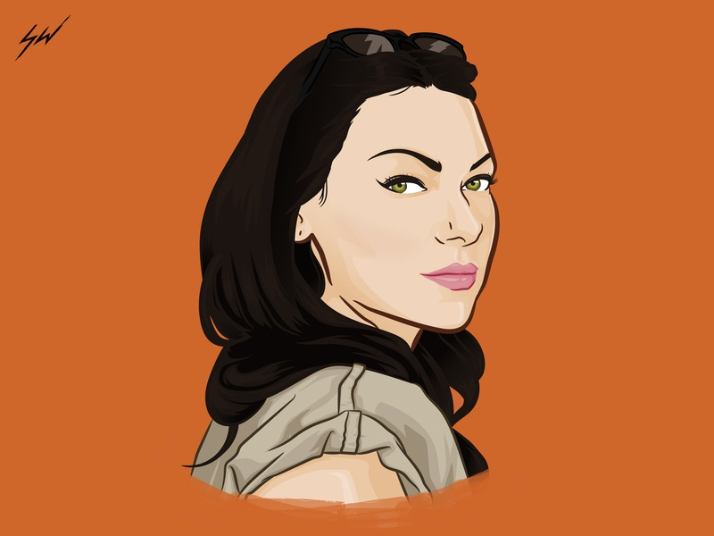 Alex Vause netflix oitnb cartoon caricature digital art fanart character portrait wacom vector illustrator illustration design