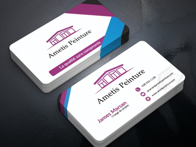 Business Card photoshop brand visitingcard branding 2 sided card busines card