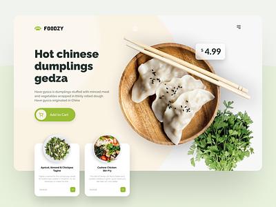 Food Delivery Service redesign flat minimal menu inspiration elegant ecommerce desktop creative concept clean meal green ui ux design food delivery food