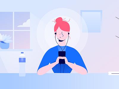 Mindshine flat design illustration mental health