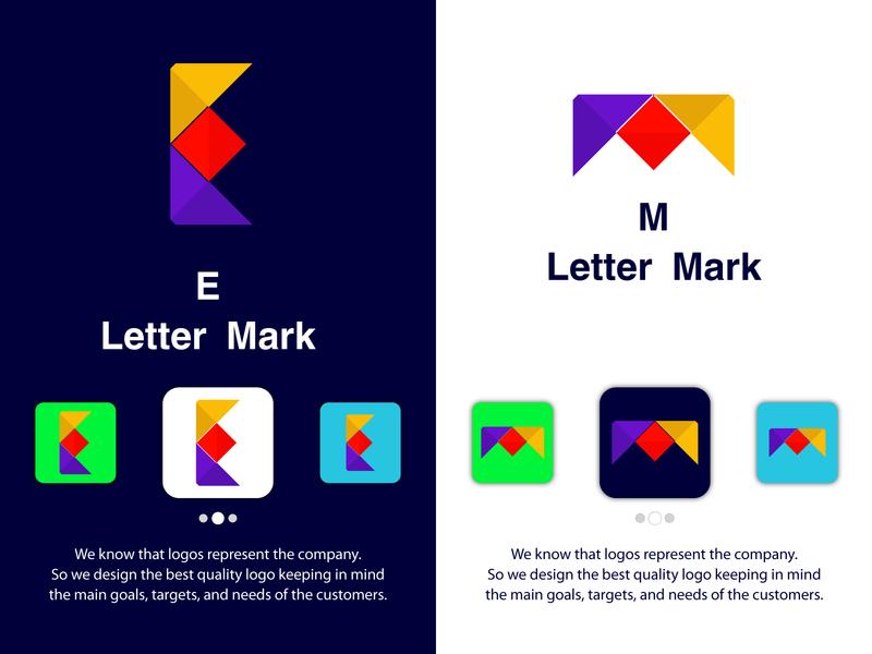 E + M Letter Logo Design Modern Minimalist Logo Design ui unique logo monogram app icon app logo logos logo concept m logo e logo symbol logo mark brand identity logo designer icon branding brand logo modern logo minimalist logo flat logo creative logo