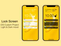 iOS Lock Screen mockups