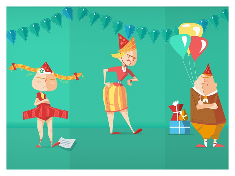 Waiting for the Cake illustration children animation infographic design character design motion graphics yeahhaus