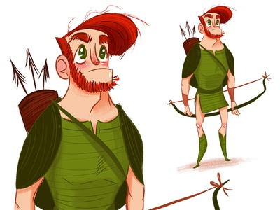 Robin Hood monthly challenge character design illustration planet pulp robin hood