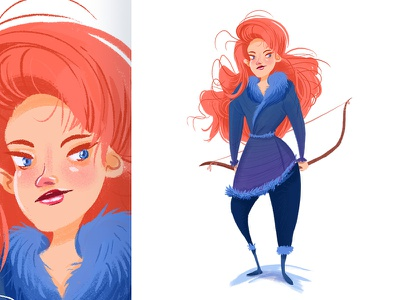 Ygritte hunter bow ygritte beyond the wall character design hbo got 10 days of thrones game of thrones