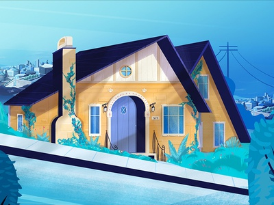 519 Haus style frame concept yeah haus illustration house