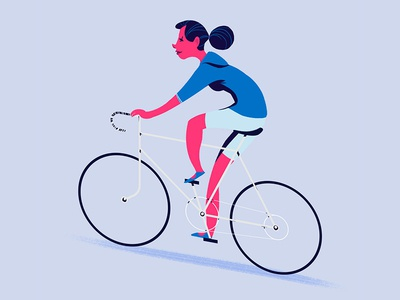 Biker for Nexmo animation motion design character design illustration bike