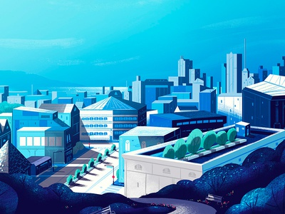Cityscape environment city concept art motion design design background illustration