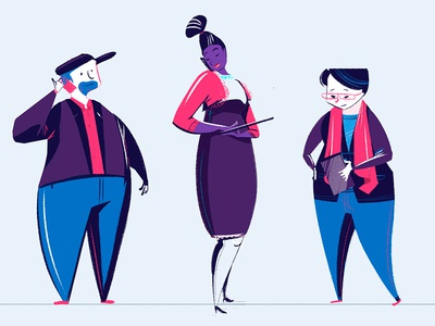 Character Extras yeah haus concept art motion design character design
