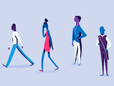 Background Character Design yeah haus concept art motion design character design
