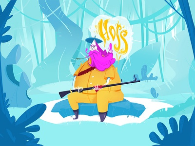 Hoss character design hoss animation motion design illustration