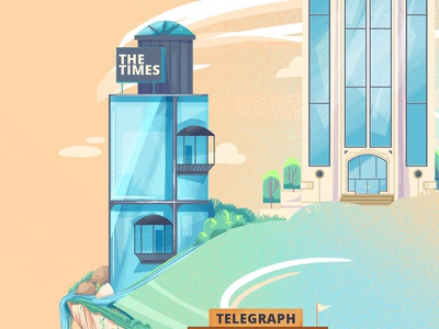 Foldy Buildings illustration concept art animation buildings yeahhaus